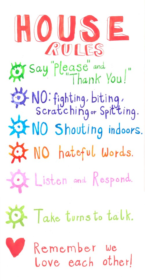 House Rules For Children Chart