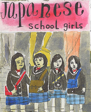 Japanese School Girls in London