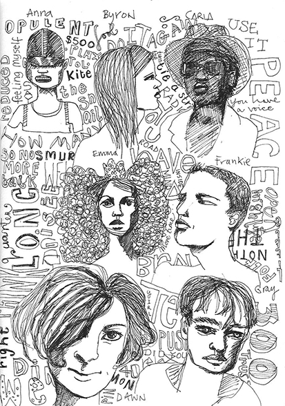 Sketchbook faces